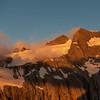 Mt Ward at sunset.