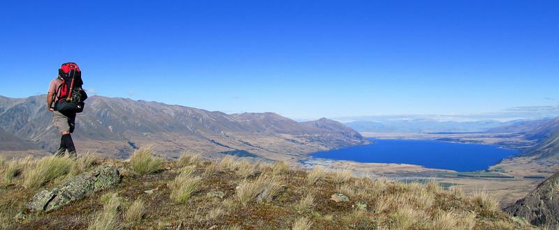 Lake Ohau from Ram Hill.