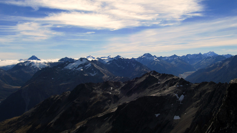 View from Rabbiters Peak from left to right: Hooker, Trent, Boanerges, Dechen, Fettes, Jackson, Ward, Williams, Sefton, Cook.