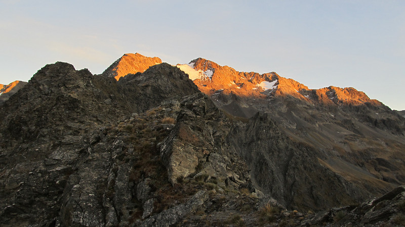 Rabbiters Peak at sunrise.