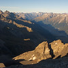 Looking south along the Naumann Range from Reticence Peak (photo - James Thornton).