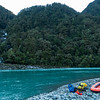 Getting our Warehouse inflatable ready for crossing the Haast to the Roaring Billy on the other side.