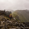 Strong winds and rain accompanied us on our journey along the Douglas Range between Green Saddle and Needles Eye.
