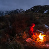 Cosy evening on George Spur at bushline east of Pt 1191 m.