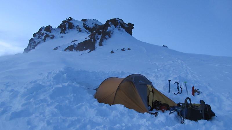 Our tent platform.
