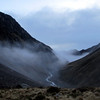 Morning mist below Hodder Huts.