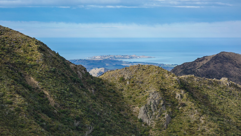 Kaikoura Peninsula from below Blind Saddle.