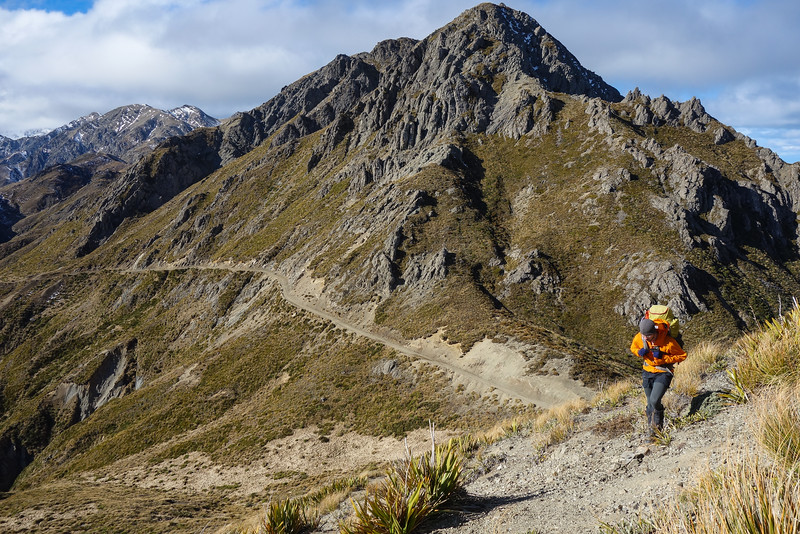 Leaving the 4WD road and Blind Saddle to climb Pt 1354 m.