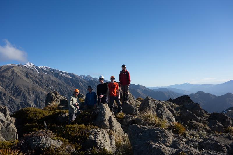 Ivo, Nina, Eric, Mat and Roi on the summit of Mackintosh Knob.