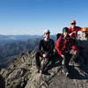 Eric, Roi, Matt and Ivo on the summit of Mackintosh Knob.
