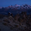 Climbing back up to Pt 1410m at sunrise.