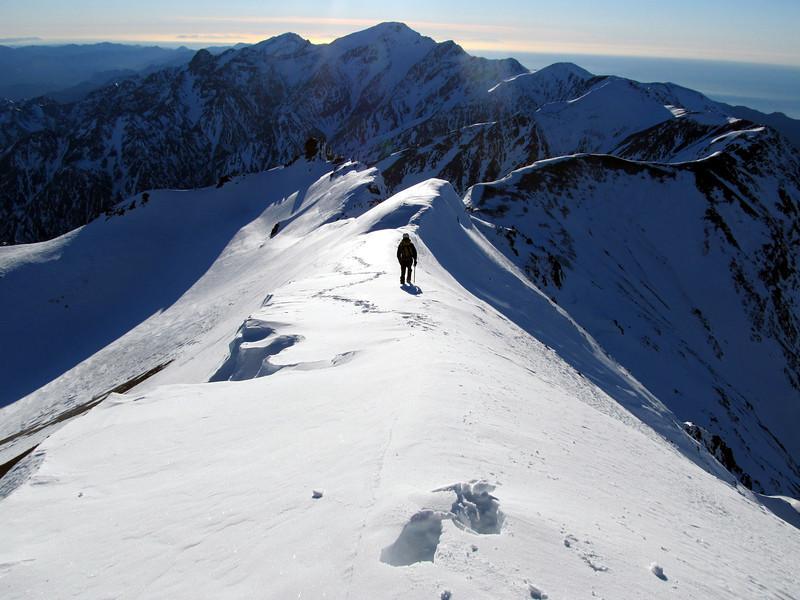 Starting the descent, Te ao Whekere above.