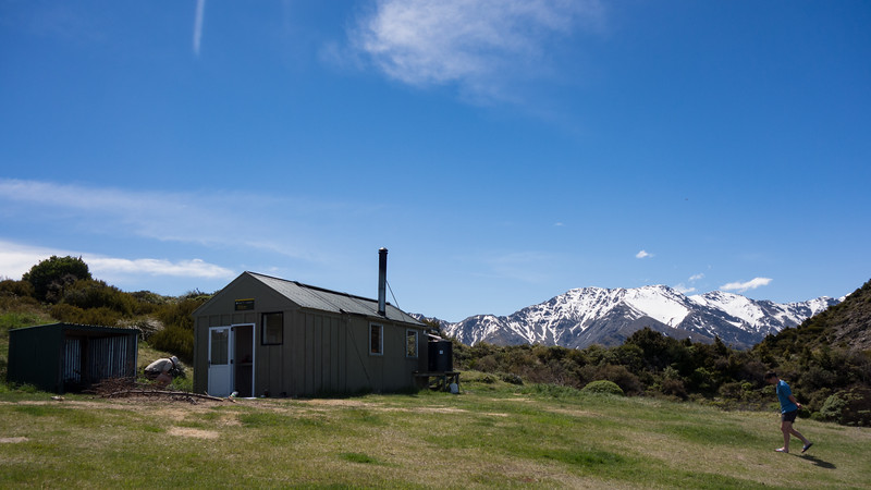 Lazing about at Mt Fyffe Hut.