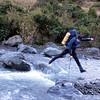 Kowhai river crossing acrobatics.