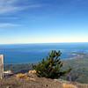 Just below the summit of Mt Fyffe, Kaikoura Peninsula below.