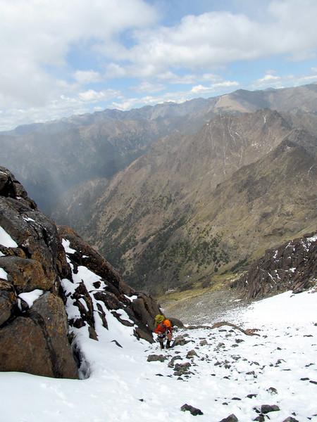 James below the summit of Scotts Knob.