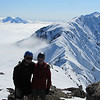 On the summit of Snowflake looking towards Alarm and Tapi on the left and Manakau on the right.