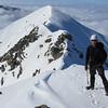 On the summit of Snowflake looking back towards the subsidary peak.