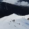 On the ridge below the subsidary peak of Snowflake.