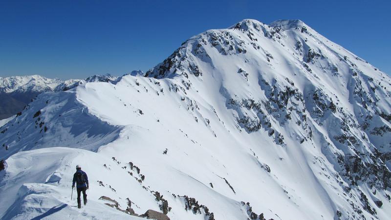 James on the summit ridge (South Ridge).