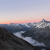 Mt Seffton and Hooker Valley at sunrise.