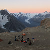 The campsite with view of the Tasman Valley.