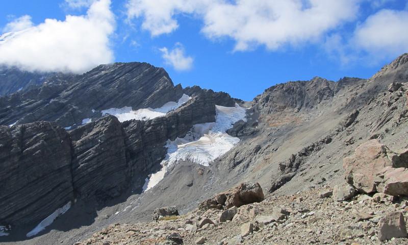 Ball Pass, Turner Peak on the left.