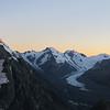 Tasman valley at sunrise.