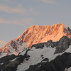 Sunrise on the east face of Mt Cook.