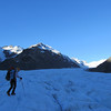 Late afternoon on the Tasman white ice close to the bivvy site.