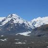 Graham Saddle and De la Beche on the left. De la Beche Hut is in the little basin on the ridge to De la Beche.