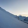 Icy conditions on De La Beche ridge, Tasman Glacier below.