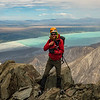 Ruari on the summit of Mt Brown.