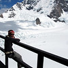 Taking in the views of Mt Cook from Plateau Hut.