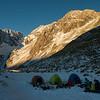 Camp below Malcher Peak.