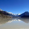 Mt Cook reflecting in Lake Tasman.