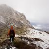 Further along the ridge.