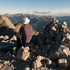 Enjoying the evening light on the summit of Patriarch looking towards Mt Owen.