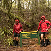 Wet walk to Wangapeka Saddle - time to decide whether to go to Helicopter Hut or over the Biggs tops.