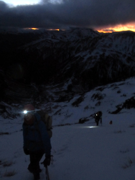 On our way up to Devils Rampart at sunrise.