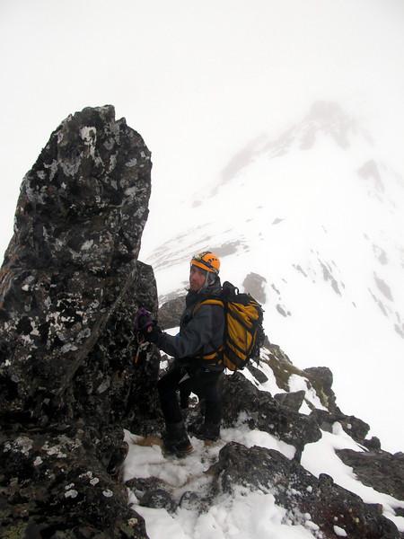 Merv just below the summit.