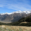 View from Maling Pass: Waiau Valley, Glacier gully is the side valley to the left of the centre.