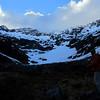 The head of Glacier Gully, Duessa Peak and Mt Una above.