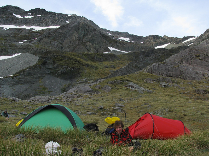 Campsite on the southern side of Waiau Pass.