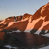 Camera Gully tarns at sunrise.