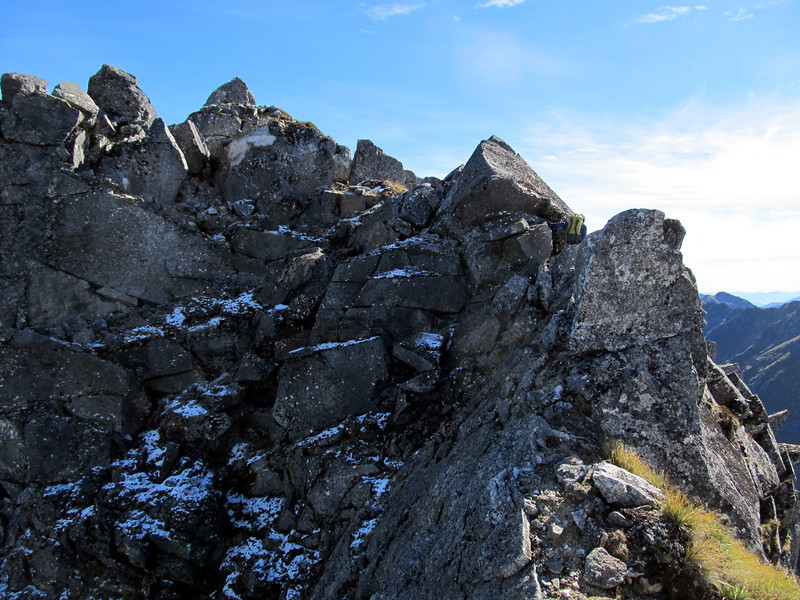 Along the south ridge of Ivess peak, summit on the left.