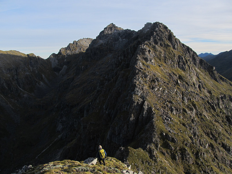 On the South Ridge of Ivess Peak looking towards a difficult section.