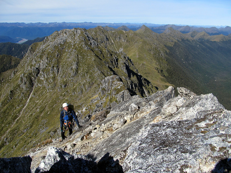 Along the south ridge of Ivess peak.