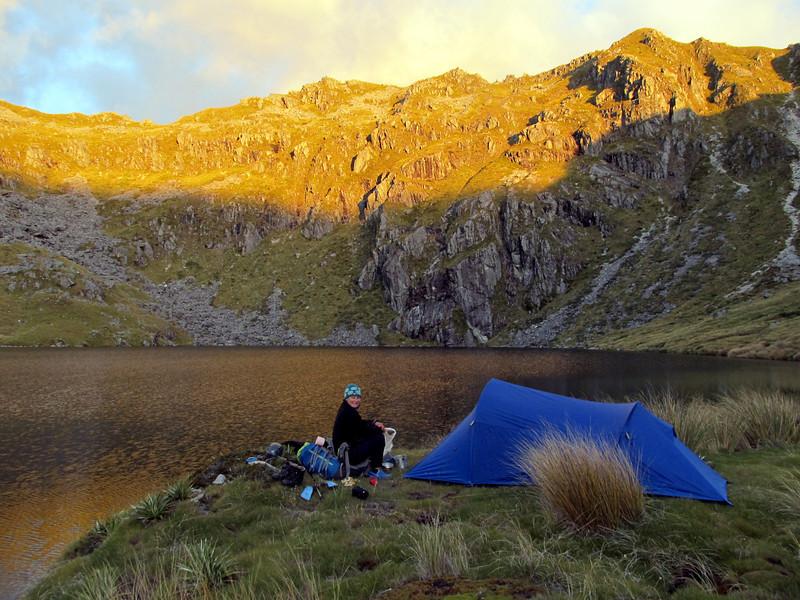 Camp at the lake below Ivess Peak.
