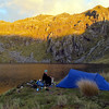 Camp at the lake below Ivess Peak.